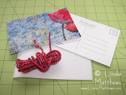 Making Fabric Postcards from Injured Prints