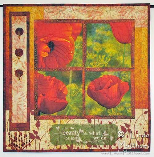 Poppy Photo Art Quilt