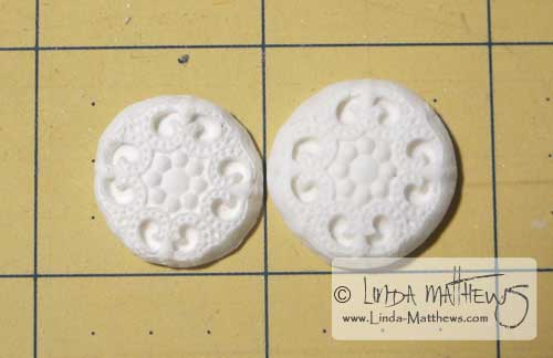 Making buttons from polymer clay molds