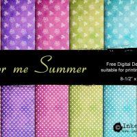 Color Me Summer: Free Printable Design Set