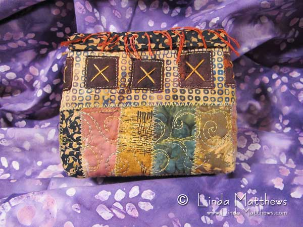 Fabric Collage Handbag and Pouch