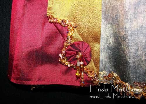 How to make lace using decorative machine stitches