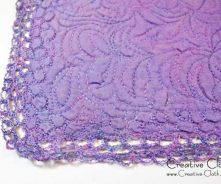 Creative sewing in shades of purple: machine quilting and emroidery