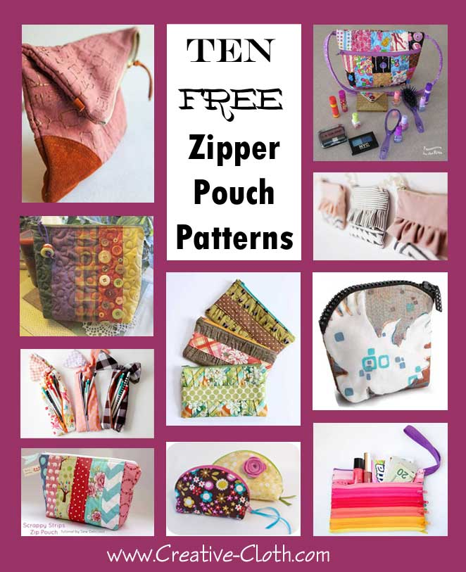 10 Free and Easy Zipper Pouch Patterns