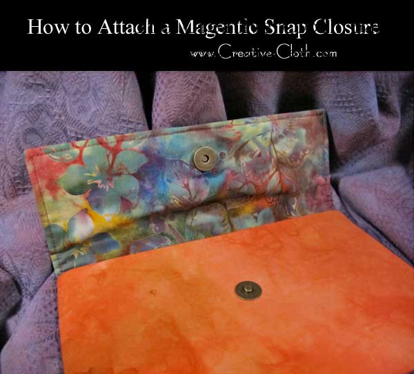 How to Attach a Magnetic Snap Closure