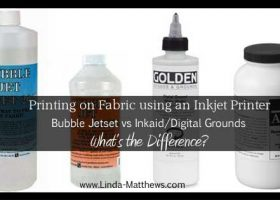 Printing on Fabric: Bubble Jetset vs Inkaid/Digital Grounds