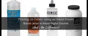 Printing on Fabric: Bubble Jetset vs Inkaid/Digital Grounds