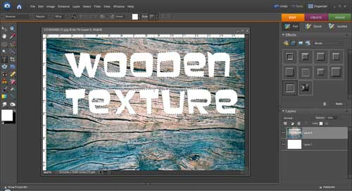 Cut Out Text Effect