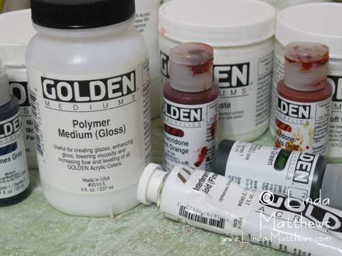 Golden Paints on Fabric
