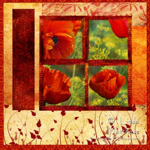 Poppy Photo Art Quilt – finally finished!