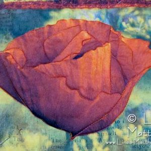 """Printing on Fabric: """"Poppy"""" Art Quilt – the quilting begins"""