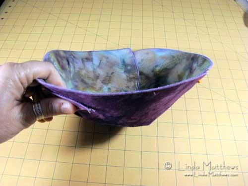 Using Peltex: Fabric Bowl