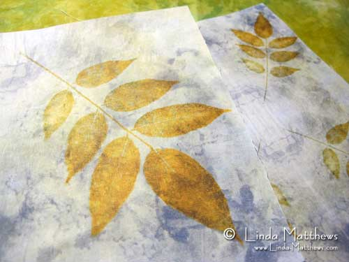 Monoprinting and digital eco-dyeing