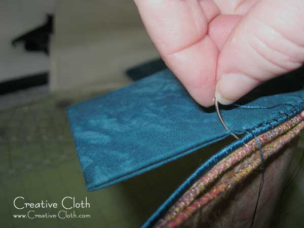 Sewing with a curved needle