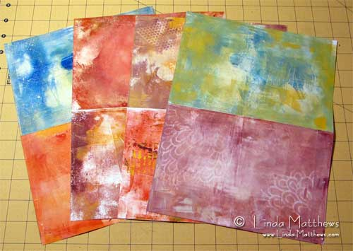 Grunge Backgrounds using a Gelatine Plate