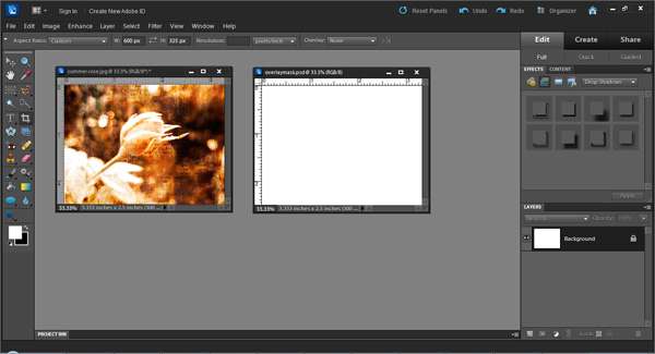 Exploring Photoshop: How to make textured edges for photos