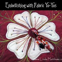 Embellishing with Fabric Yo-Yos
