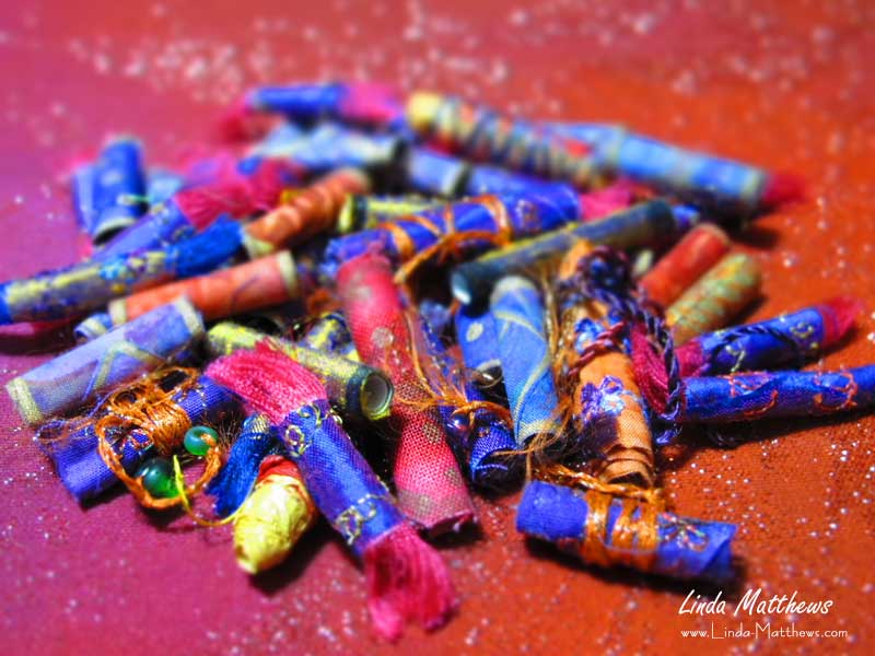 Need a quick weekend project? Try Some Fabric Beads