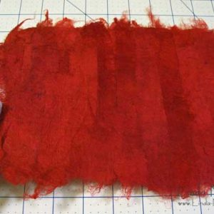 Silk carrier rods and how to use them to make silk paper