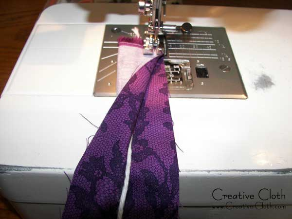 How to sew and turn a fabric purse strap tube