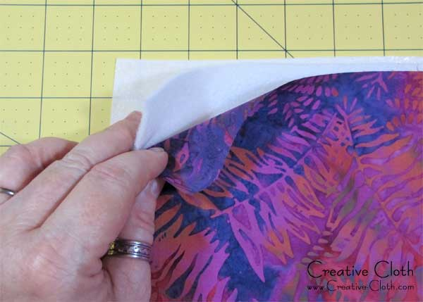 How to create texture using fabric strips