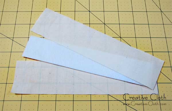 How to make an easy fabric bookmark with flower embellishment