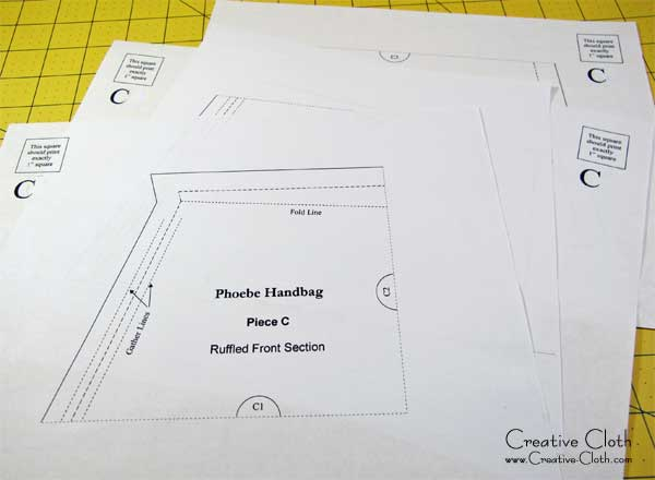 The Phoebe Handbag SewAlong: Prepare the Pattern and Cut the Pieces