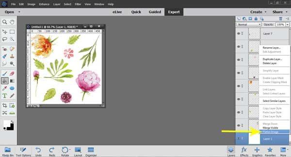 How to Make Complex Repeating Patterns using Photoshop Elements