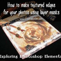 How to make textured edges for your photos using layer masks in Photoshop Elements