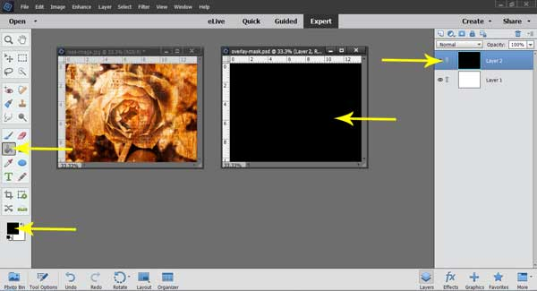 How to make textured edges for your photos in Photoshop Elements