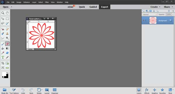 How to Make a Simple Straight Repeat Pattern using Photoshop Elements