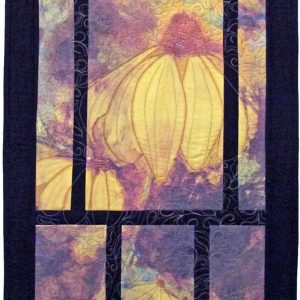 My new digital art quilt Wildflowers in the Mist