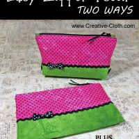 Easy Zipper Pouch … Two Ways … PLUS Free Fabric Printable