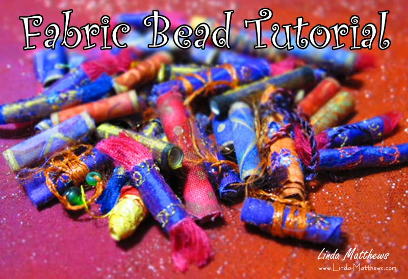 Free Sewing Tutorial - Embellished Fabric Beads