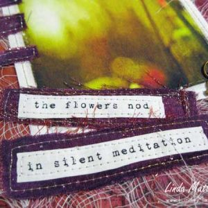 A Page from my Art Journal: Silent Meditation