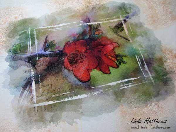 Work in Progress: Watercolor Print on Fabric