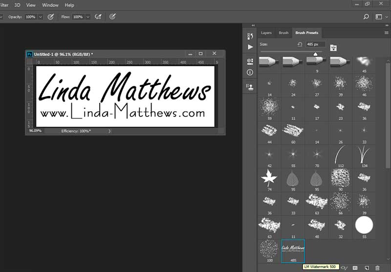 How to Turn your Logo into a Watermark Brush