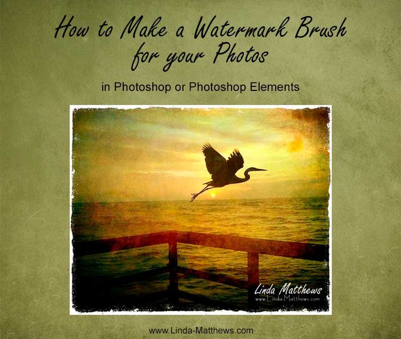 How to Make a Watermark Brush for your Photos
