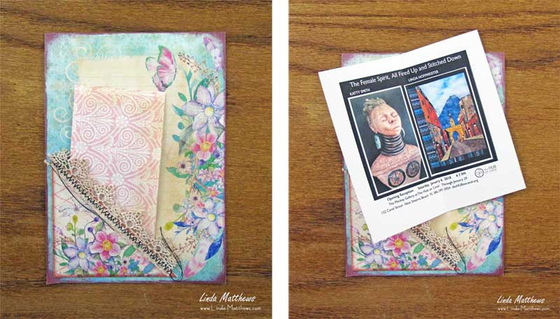Creative Art'n'Soul Journal Page: Being Creative In No Time At All
