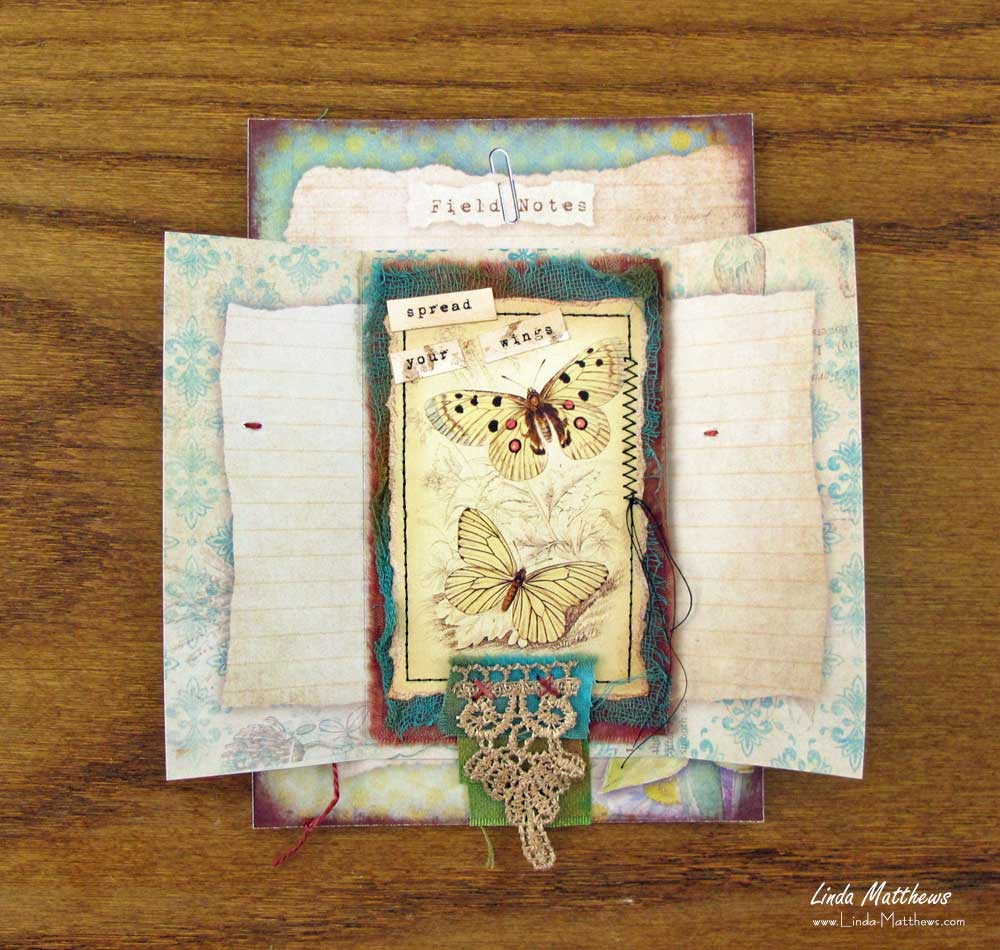 Nature Memory Journal Page: Spread Your Wings