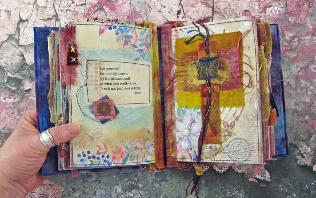Taking Flight – a Stitched Mixed Media Journal