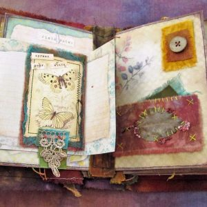 The Nature of Things – a stitched mixed media art journal