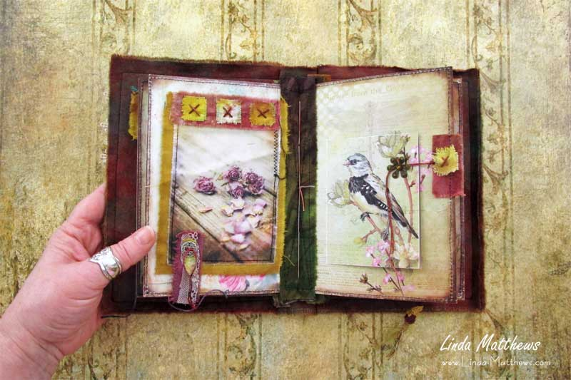 The Nature of Things Stitched Mixed Media Journal