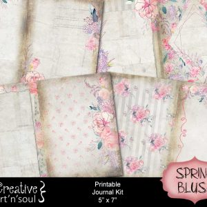 New in the Printables Store: Spring Blush Printable Journal Kit 5″ x 7″