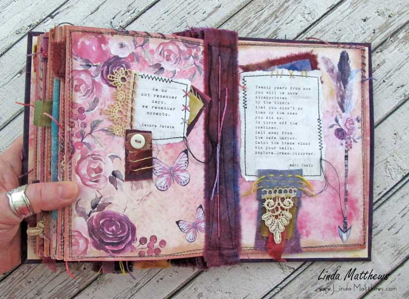 Words to Remember: A Stitched Mixed Media Art Journal