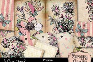 Scrappy Garden Printable Journal Kit