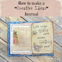 "How to Make a ""Creative Ideas""  Journal"