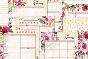 Rambling Rose Printable Planners