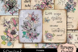 Scrappy Garden Printable Quote Pages