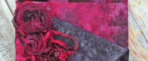 Serendipity Hand-Dyed Fabrics: Wine & Roses at Midnight